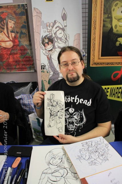 Nacho Fernandez at Paris Comic Expo 2014